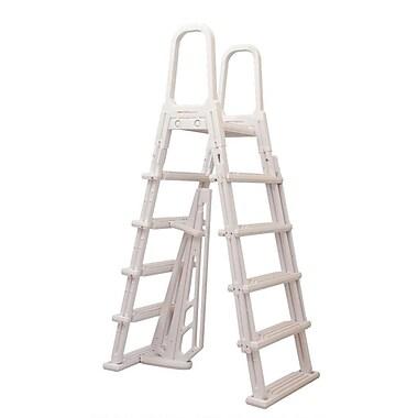 Blue Wave A-Frame Flip Up Ladder For Above-Ground Pools, White