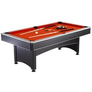 Hathaway™ Maverick 7' Pool Table With Table Tennis, Black/Red/Blue