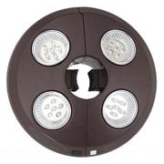 Blue Wave 4 Light Rechargeable LED Umbrella Light, Bronze