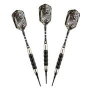 Hathaway™ Sure Grip Soft Tip Darts, Silver/Black, 3/Set