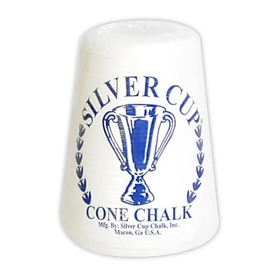 """""Hathaway 5 1/4"""""""" x 4 1/2"""""""" x 4 1/2"""""""" Silver Cup Cone Talc Chalk, White"""""" 1022842"