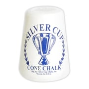 "Hathaway™ 5 1/4"" x 4 1/2"" x 4 1/2"" Silver Cup Cone Talc Chalk, White"