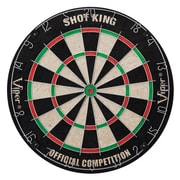 Hathaway™ Shot King Sisal 18 Dart Board, Black