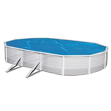 Blue Wave 18' x 33' Oval 8 mil Solar Blanket For Above-Ground Pools, Blue