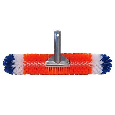 Blue Wave Brush Around 360 Wall and Floor Pool Brush, Orange/Blue/White