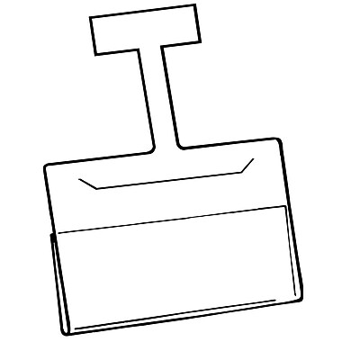 FFR Merchandising Channel Wobbler Aluminum Sign Holder, 3.5
