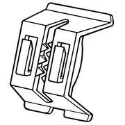 FFR Merchandising Double-Duty Shelf Channel Plastic Sign Holder, 152/Pack
