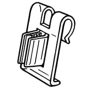 FFR Merchandising® SuperGrip® 1 Wire Flag Sign Holder, Clear