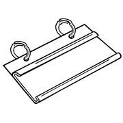 FFR Merchandising® Overlap UPC Tag Holder, 3 1/2, Clear