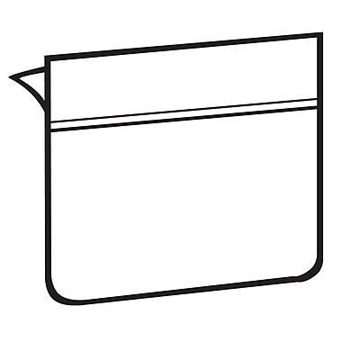 FFR Merchandising® Label Holder with Adhesive, 1 1/4