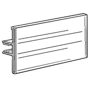 FFR Merchandising® SuperGrip® 1 1/2 x 3 Covered Face Sign Holder, Clear