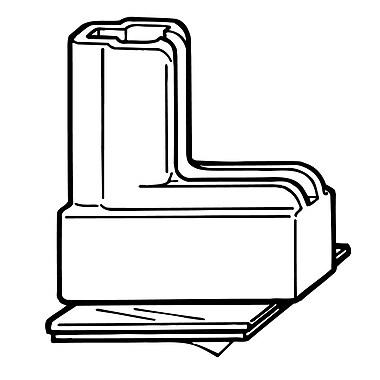 FFR Merchandising® RAZZ System® Freestanding Adhesive Base, White