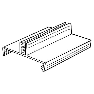 FFR Merchandising SuperGrip Gondola Top PVC Sign Holder, 2.75