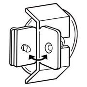FFR Merchandising Fold-N-Hold Suction Cup Flag Polypropylene Sign Holder, 28/Pack