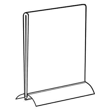 FFR Merchandising Snap Base Plastic Sign Holder, 8.5