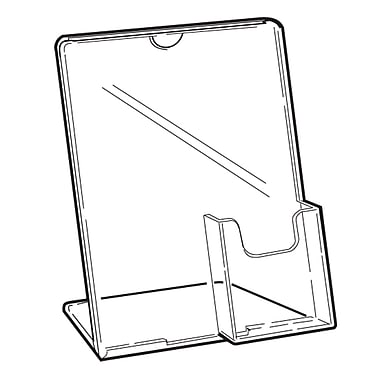 FFR Merchandising Tru-Vu Easel Styrene Sign Holder with Pocket, 3