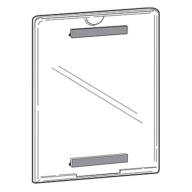 FFR Merchandising Tru-Vu Magnetic Styrene Sign Holder, 11
