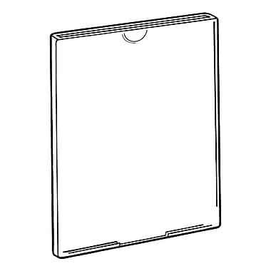 FFR Merchandising Tru-Vu Plain Styrene Sign Holder, 6