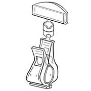 "FFR Merchandising 4"" Clip-On Plastic Sign Holder, Clear Knuckle, 8/Pack"
