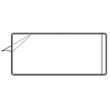 FFR Merchandising Clear Vinyl Pouch with Adhesive, 8.5