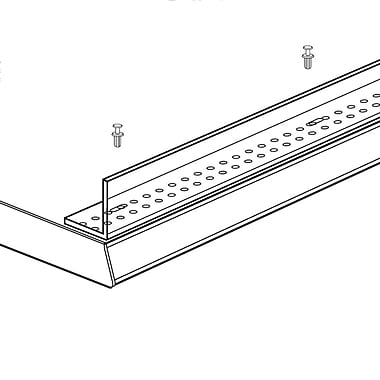 FFR Merchandising® XTD Extruded Front Fence, 1 1/2