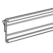 "FFR Merchandising® 1-1-/4"" x 48"" Shelf Molding CHC C-Channel with Foam Tape, Black"