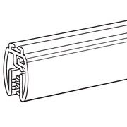 "FFR Merchandising® Mercury™ Designer Series 22""(L) Banner Hanger With Track, Black"