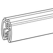 "FFR Merchandising Mercury Designer Series 36"" PVC Banner Hanger with Track, Black, 4/Pack"
