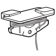 FFR Merchandising 4'L Sure-Twist Single Cord Plastic Ceiling Clip, White, 30/Pack