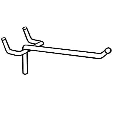 FFR Merchandising® 7 Gauge Metal Peg Hook with Ball End, 4