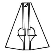 "FFR Merchandising 12"" Self-Sticking Cardboard Easel, White, 8/Pack"