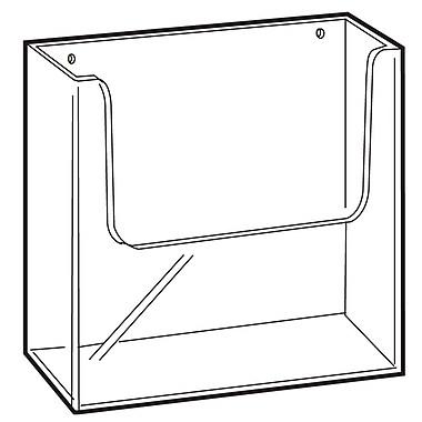 FFR Merchandising Wall-Mount Extra Capacity Styrene Literature Holder, 9.63
