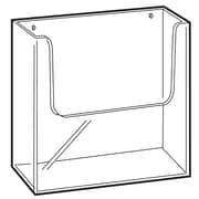 "FFR Merchandising Wall-Mount Extra Capacity Styrene Literature Holder, 9.63"" x 9.13"", 2/Pack"
