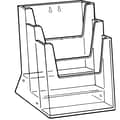 FFR Merchandising® Excelsior® Styrene 9 1/2in. Triple-Tiered Literature Holder, Clear