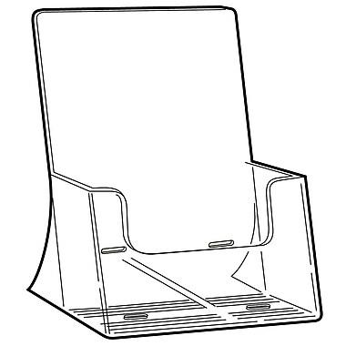 FFR Merchandising Excelsior Freestanding Extra Capacity Styrene Literature Holder, 10.75