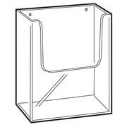 "FFR Merchandising Wall-Mount Extra Capacity Styrene Literature Holder, 6.31"" x 6.38"", 2/Pack"