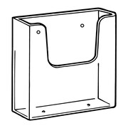 "FFR Merchandising Wall-Mount Styrene Literature Holder, 6.35"" x 6.1"", 2/Pack"