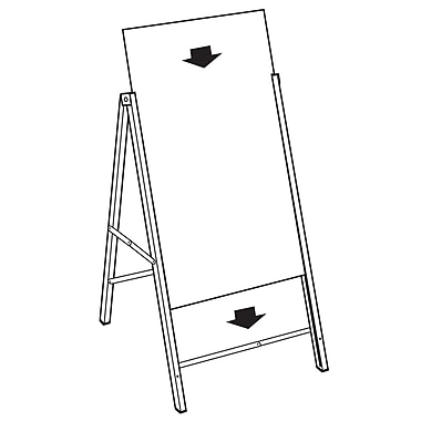 FFR Merchandising Portable A-Frame Metal Sign Holder, 36