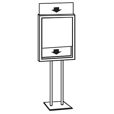 FFR Merchandising® Premier™ Posterframe Floor Stand, Chrome