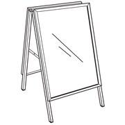 FFR Merchandising Indoor/Outdoor A-Frame Metal Sign Holder, 36 x 24