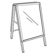 FFR Merchandising® Indoor/Outdoor 28 x 22 Round A-Frame Sign Holder, Silver