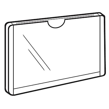 FFR Merchandising Clip-On Plastic Sign Protector Sleeve, 8/Pack
