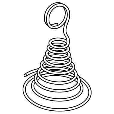 FFR Merchandising Spiral Cone Metal Card Holder, 3.5