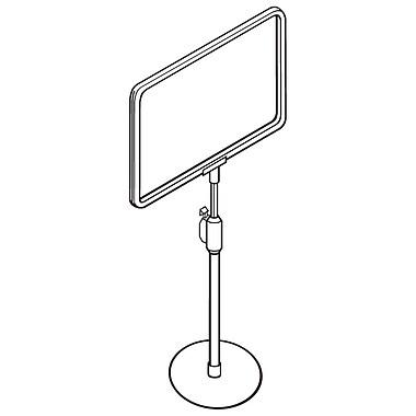FFR Merchandising Telescopic Plastic Sign Frame, 8.5