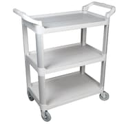 FFR Merchandising® 38 Three Shelf Economy Cart, Gray