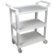 FFR Merchandising® 37 Three Shelf Economy Cart, Gray