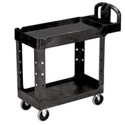 "FFR Merchandising® 33 1/4"" Raised Handle Utility Cart, Black"