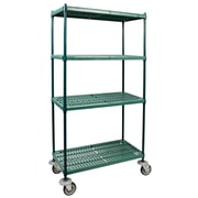FFR Merchandising® Vented Polymer 18 x 54 Wire Shelf Shelving System With Plastic Mat, Green