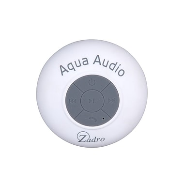 Zadro™ Aqua Audio Water Resistant Bluetooth Handfree Shower Speaker, White