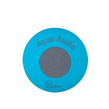 Zadro™ Aqua Audio Water Resistant Bluetooth Handfree Shower Speaker, Blue